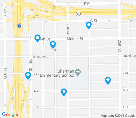 map of Sherman Heights apartments for rent