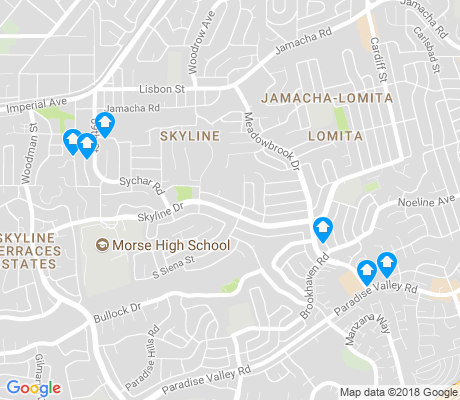 map of Skyline apartments for rent