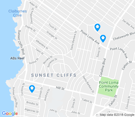 map of Sunset Cliffs apartments for rent