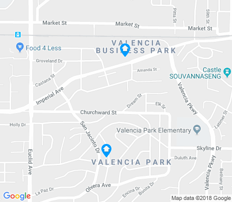 map of Valencia Park apartments for rent