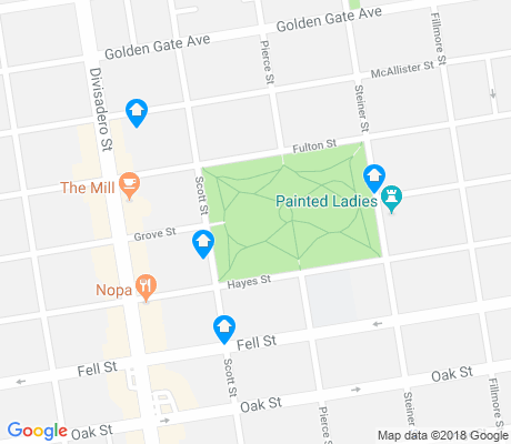map of Alamo Square apartments for rent