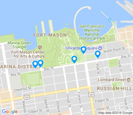 map of Aquatic Park-Fort Mason apartments for rent