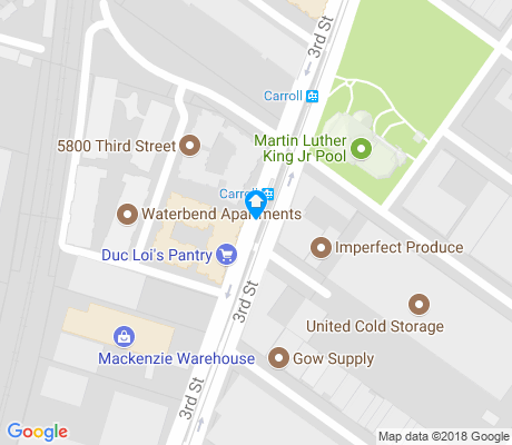map of Bret Harte apartments for rent