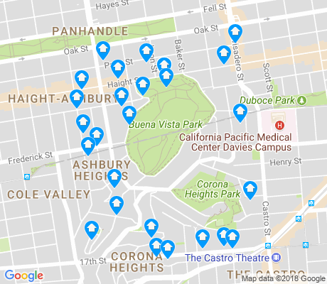 map of Buena Vista apartments for rent