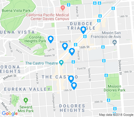 map of Castro apartments for rent