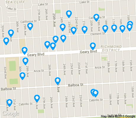 map of Central Richmond apartments for rent