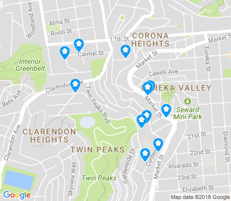 map of Clarendon Heights apartments for rent
