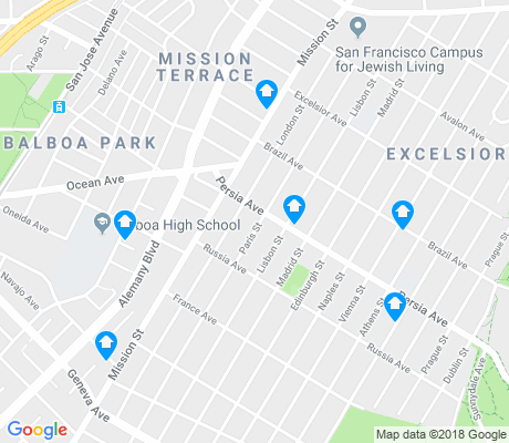 map of Excelsior apartments for rent