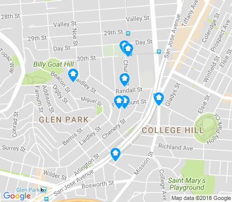 map of Fairmount apartments for rent