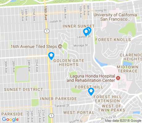 map of Golden Gate Heights apartments for rent