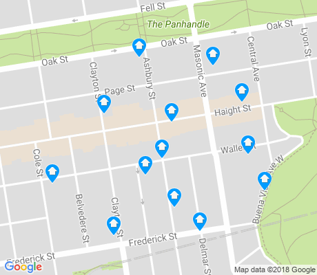 map of Haight Ashbury apartments for rent