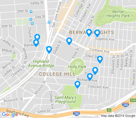 map of Holly Park apartments for rent