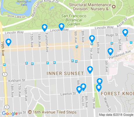 map of Inner Sunset apartments for rent