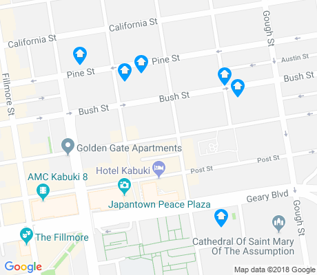 map of Japantown apartments for rent