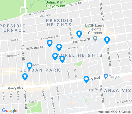 map of Laurel Heights-Jordan Park apartments for rent