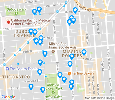 map of Mission Dolores apartments for rent