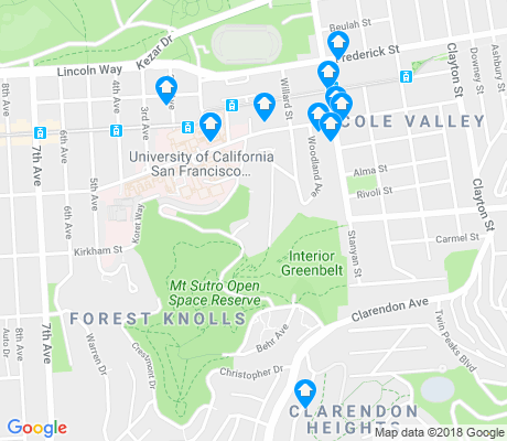 map of Parnassus Heights apartments for rent