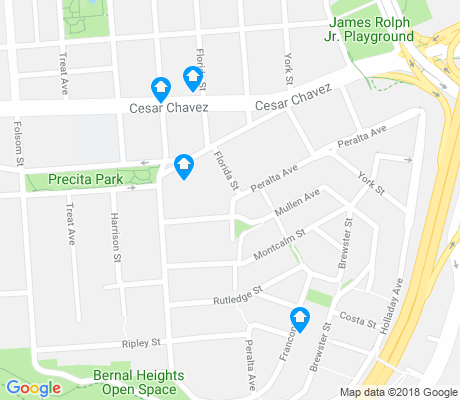 map of Peralta Heights apartments for rent
