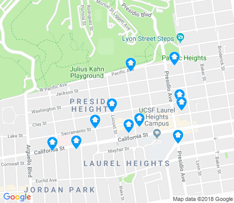 map of Presidio Heights apartments for rent