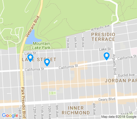 map of Presidio Terrace apartments for rent