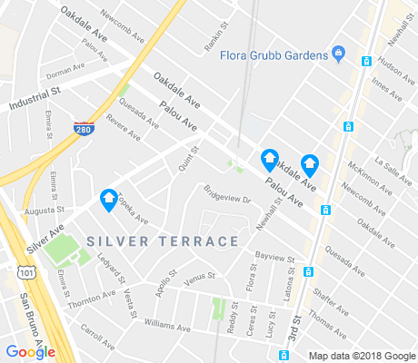 map of Silver Terrace apartments for rent