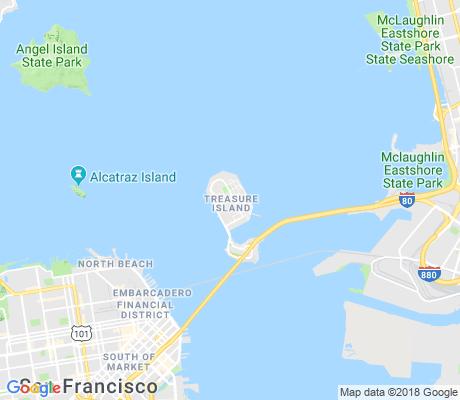 map of Treasure Island apartments for rent