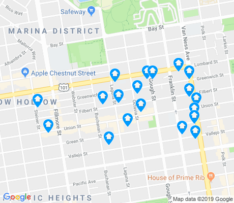 map of Union Street apartments for rent