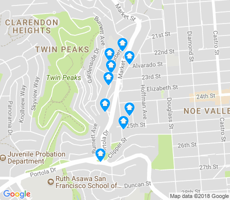 map of Upper Market apartments for rent