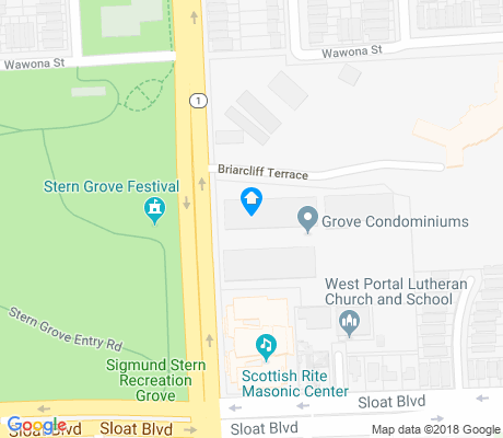 map of West Portal apartments for rent