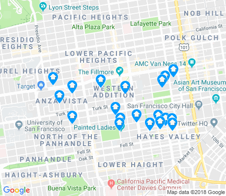 map of Western Addition apartments for rent
