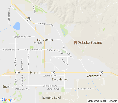 map of Rose Ranch apartments for rent