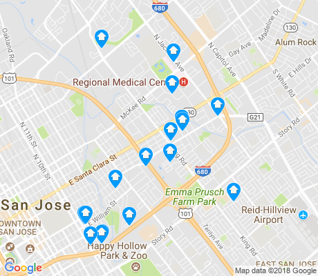map of 95116 apartments for rent
