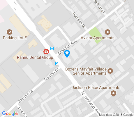 map of Alexander apartments for rent