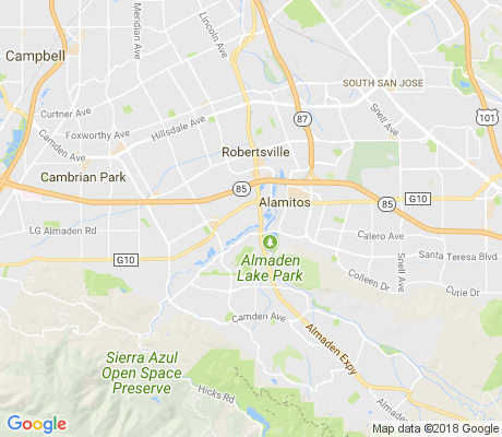map of Almaden apartments for rent