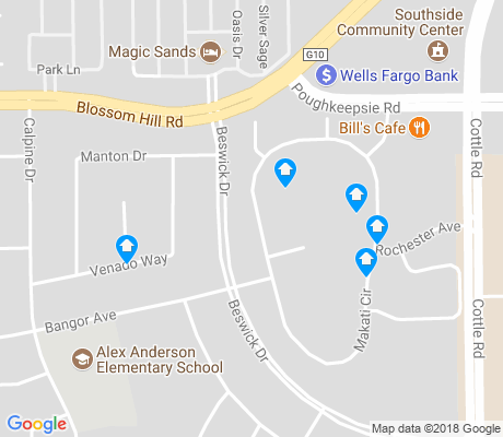 map of Anderson East apartments for rent