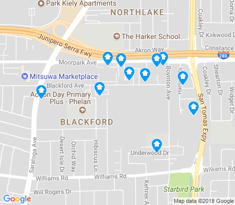 map of Blackford apartments for rent