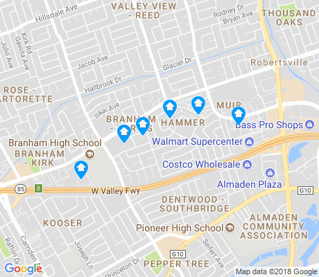 map of Branham-Jarvis apartments for rent