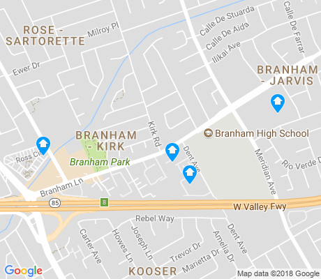 map of Branham-Kirk apartments for rent