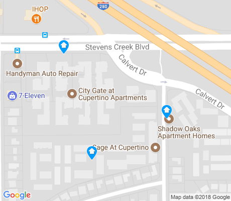 map of Calvert apartments for rent