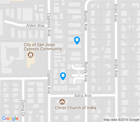 map of Cypress-Jurdo apartments for rent