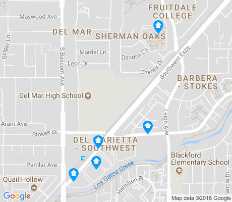 map of Del Mar apartments for rent