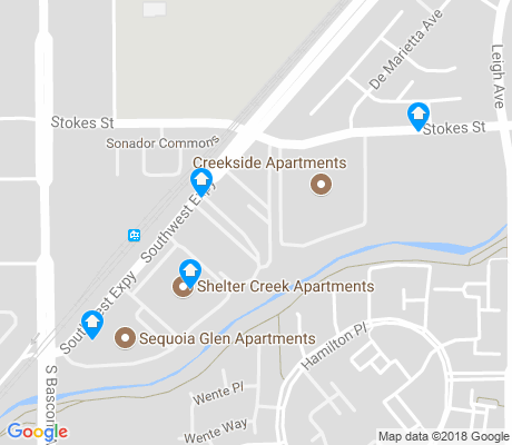 map of Del Marietta-Southwest apartments for rent