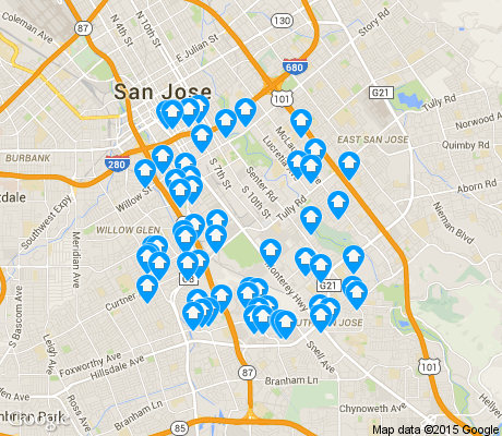 map of Fairgrounds apartments for rent