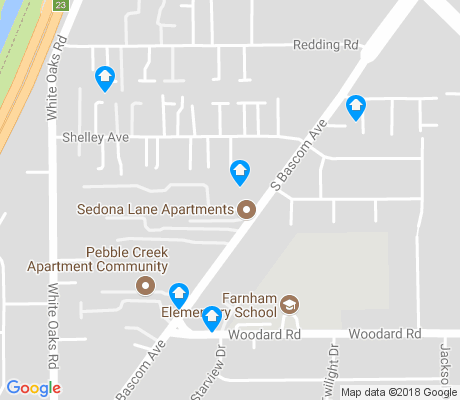 map of Farnam apartments for rent