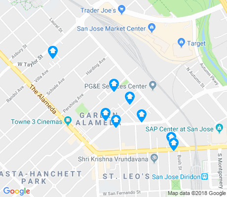 map of Garden Alameda apartments for rent