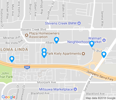 map of Loma Linda apartments for rent