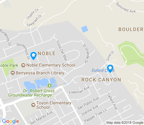 map of Noble apartments for rent