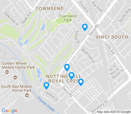 map of Notting Hill-Royal Crest apartments for rent