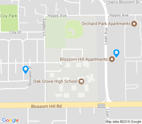 map of Oak Grove apartments for rent