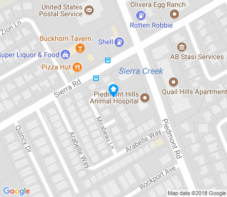 map of Piedmont Hills apartments for rent